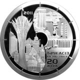 20 years of Independence of Kazakhstan – 5000 Tenge – Kazakhstan – silver coin with gilding (1 kg)