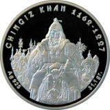 CHINGIZ KHAN – 100 Tenge – Kazakhstan – silver coin