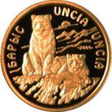 Snow Leopard – 100 Tenge – Kazakhstan – gold coin
