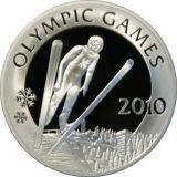Ski Jumping – Olympics 2010 -100 Tenge – Kazakhstan – silver coin