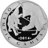 Ice hockey – Olympic Games 2014 – 100 Tenge – Kazakhstan – silver coin