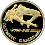 Olympic Games-2008 – High Jumper – 500 Tenge – Kazakhstan – gold coin