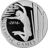Pole-Jumping – Olympics 2016 – 100 Tenge – Kazakhstan – silver coin