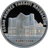 Turkestan Mosque – 100 Tenge – Kazakhstan – silver coin