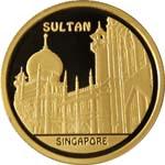 Sultan Mosque – 500 Tenge – Kazakhstan – gold coin