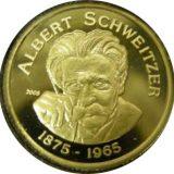 Albert Schweitzer (1875 – 1965) – Benin – 2005 – commemorative gold coin