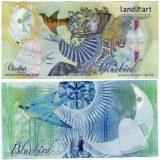 Kazakhstan – Bluebird – 2013 – halley – test (specimen) banknote