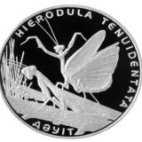 Hierodula Tenuidentata – 500 Tenge – Kazakhstan – silver coin
