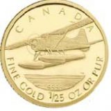 Airplane – Canada – 2008 – gold coin