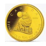 Timber Wolf – Canada – 2007 – gold coin