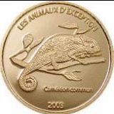 Endangered Wildlife – Cameleon – Congo – 2003 – gold coin