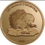 Endangered Wildlife – Porcupine – Congo – 2003 – gold coin