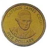 Captain James Cook – Cook Islands – 2001 – gold coin