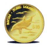 Bottle-Nosed Dolphin – Cook Islands – 2000 – gold coin