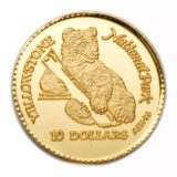 Grizzly Bear (Yellowstone National Park) – Cook Islands – 1996 – gold coin