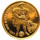 King Henry VIII – Falkland Islands – 1997 – gold coin