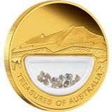 Treasures of Australia – 2009 – gold coin with diamonds