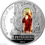 WINDOWS OF HEAVEN – Isaac Cathedral St Petersburg – Cook Islands – 2012 – 10 Dollars – silver coin