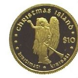 Christmas Island (Angel) – 2005 – Kiribati – gold coin