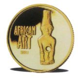 African Art – Congo – 2000 – gold coin