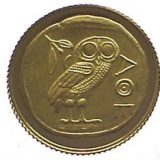 Athens Owl: Olympic Games 2004 in Athens – 2003 – Congo – gold coin