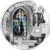 WINDOWS OF HEAVEN – St. Francis KRAKOW – Cook Islands – 2012 – 10 Dollars – silver coin