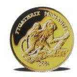 Monkey, Pygathrix nemaeus – Laos – 2001 – gold coin