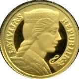 Milda: Latvian Republic – Latvia – 2003 – gold coin