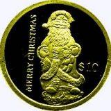 Merry Christmas (Santa Claus) – Liberia – 2004 – gold coin