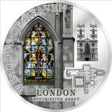 WINDOWS OF HEAVEN – Westminster Abbey London – Cook Islands – 2011 – 10 Dollars – silver coin