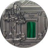 Masterpieces in Stone – Malachite Room (St. Petersburg, Russia) – 2013 – Fiji – 3 OZ silver coin