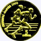 Olympic Games 2000 (sprinters) – Malawi – 2000 – gold coin