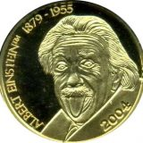 Albert Einstein (1879-1955) – Northern Mariana Islands – 2004 – gold coin