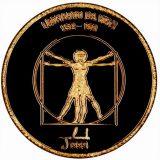 Leonardo da Vinci – Mongolia – 1999 – gold coin