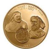 Kubilai Khan and Marco Polo – Mongolia – 2003 – gold coin