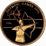 Olympic Games 1996 – Mongolia – 1996 – gold coin