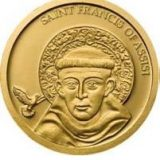 Saint Francis of Assisi – Palau – 2008 – gold coin