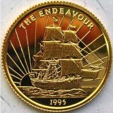 "Ship ""Endevour"" – Samoa – 1995 – gold coin"