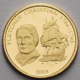 Christian Fletcher (1764-1793) – Samoa – 2003 – gold coin