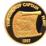 Gold of Captain Flint – Samoa – 1997 – gold coin
