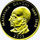 Mahatma Gandhi (1869-1948) – Samoa – 2003 – gold coin
