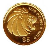 Lion – Singapore – 1992 – gold coin