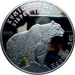 Silver Irbis – 5 Tenge – Kazakhstan – 5 oz – silver coin (2016)