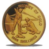 History Of Gold – Tanzania – 1998 – gold coin