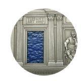 TIFFANY ART: Renaissance – Palau – 2007 – 10 Dollars – silver coin with tiffany glass