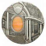 TIFFANY ART: Mannerism – Palau – 2008 – 10 Dollars – silver coin with tiffany glass