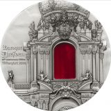 TIFFANY ART: Baroque Dresden – Palau – 2014 – 10 Dollars – silver coin with tiffany glass