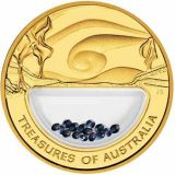 Treasures of Australia – 2007 – gold coin with sapphire