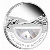 Treasures of Australia – 2011 – 1 Dollar – Australia – silver coin with pearl
