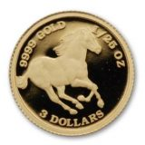 Horse – Tuvalu – 2006 – gold coin